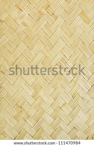 Bamboo mat background, handmade texture - stock photo