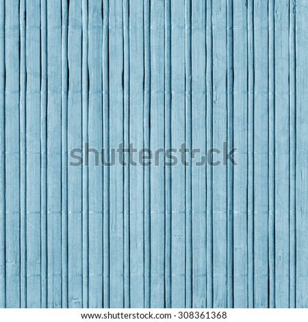 Bamboo Mat, Bleached and Stained Powder Blue, Grunge Texture Sample.