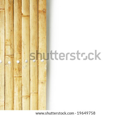 bamboo partition against white background