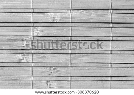 Bamboo Place Mat, Bleached and Stained Gray, Grunge Texture Sample.