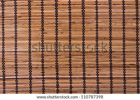 Bamboo placemat - stock photo