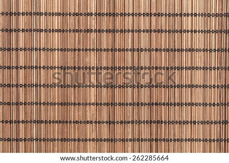 Bamboo placemat straw wood texture for the background - stock photo