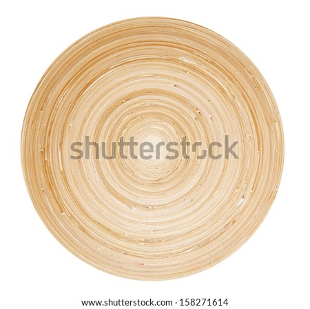 Bamboo plate isolated on white background