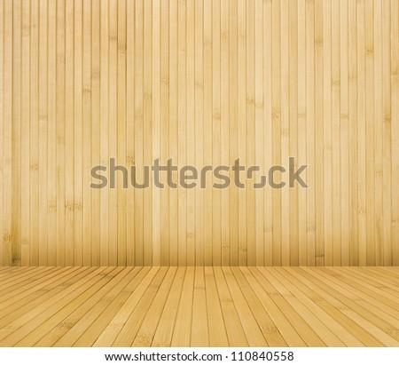 bamboo room - stock photo