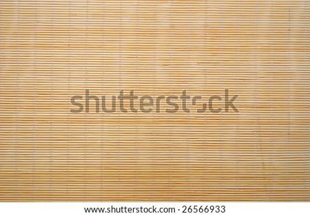 Bamboo stick sushi pad texture - stock photo