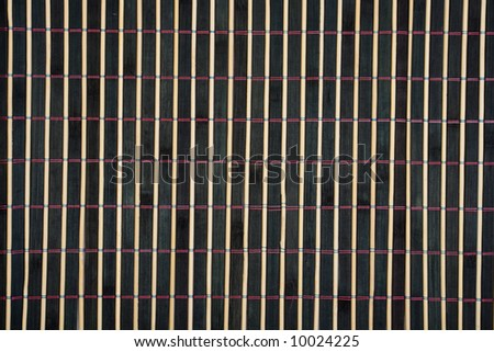 Bamboo table-cloth close-up - stock photo