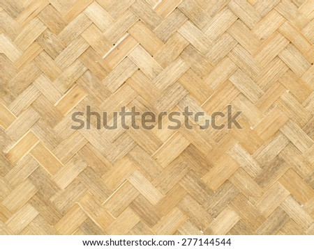bamboo texture, weave bamboo pattern for background - stock photo
