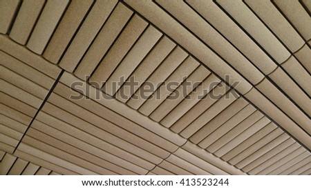 Bamboo Tiles Wall for Interior Design - stock photo