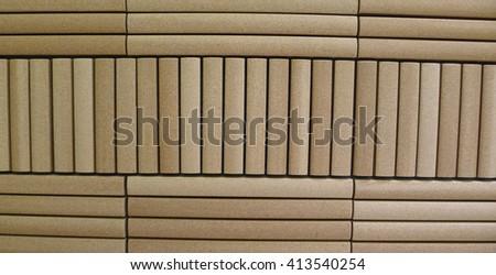 Bamboo Tiles Wall, for Minimalism Interior Design - stock photo
