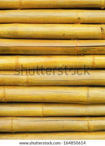 Bamboo wall background - stock photo