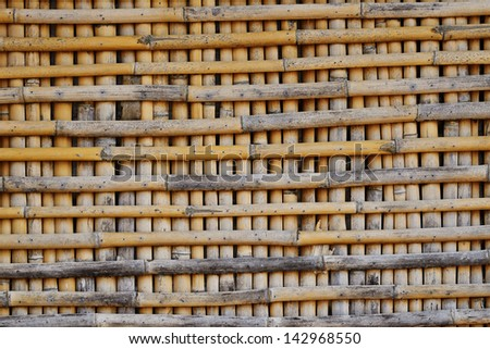 Bamboo wall background and Texture.
