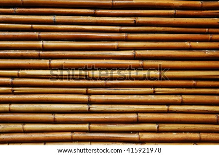 Bamboo wall background texture - stock photo