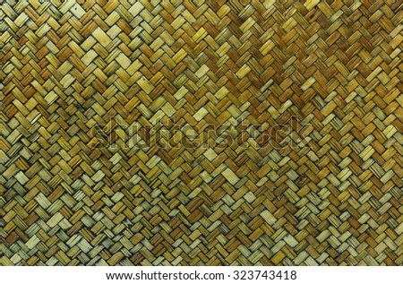 Bamboo weave background. Old bamboo texture. Vintage bamboo background. Wood weave background. Bamboo craft texture. Bamboo craft background. Basket background. Old basket background. Basket texture. - stock photo