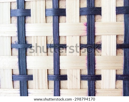 bamboo weave background texture - stock photo