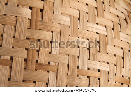 Bamboo Weave Basket texture and background