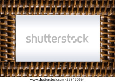 bamboo weave frame for background or texture - stock photo