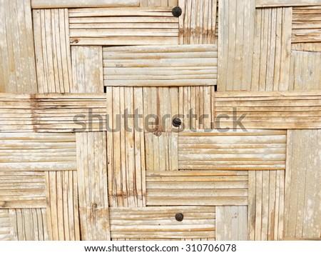Bamboo weave pattern - stock photo