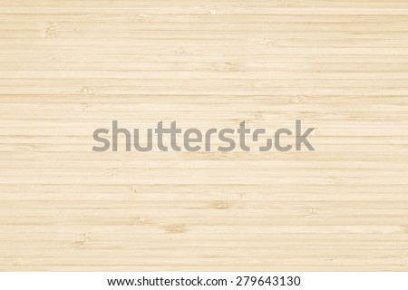 Bamboo wood texture background in natural cream color tone  - stock photo