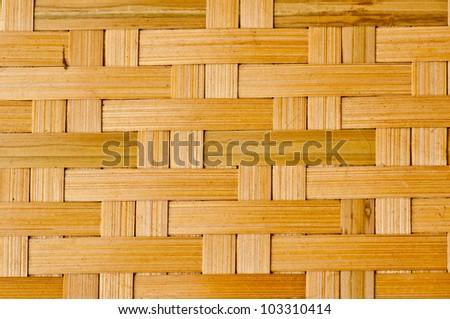 Bamboo wood texture ,handwork - stock photo
