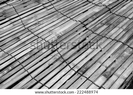 Bamboo wood texture with natural patterns - stock photo