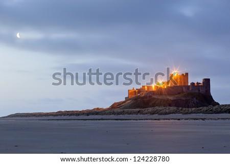 Bamburgh Castle, Northumberland, England, Europe - stock photo