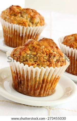 Banana bran muffins  - stock photo