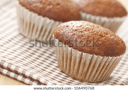 Banana cup cake - stock photo