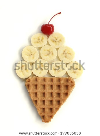 Banana Ice Cream Cone