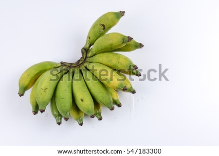 Banana isolated on white background.