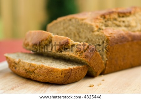 banana nut bread - stock photo