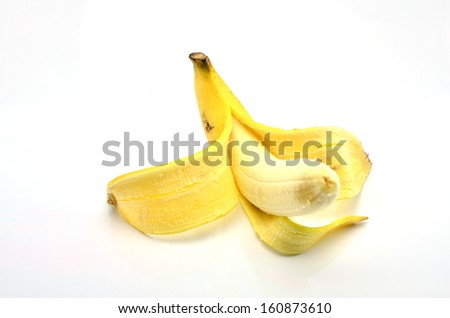 Banana on a white background.