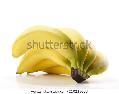 Banana over white background, for nutrition, diet, healthy eating themes - stock photo