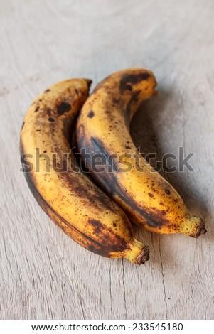 banana overripe - stock photo