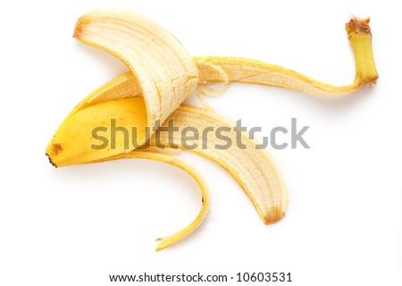 Banana peel - stock photo