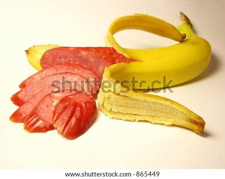 Banana sausage- noise - stock photo