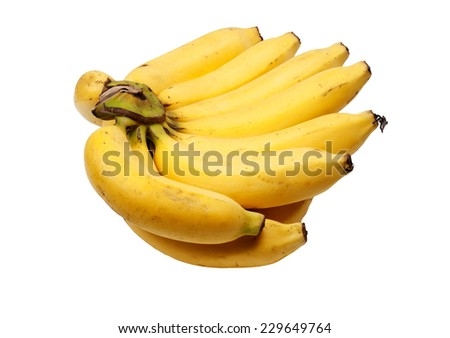 banana white background  - stock photo