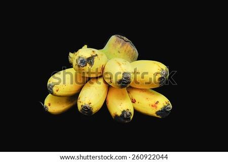 bananas Black background - stock photo