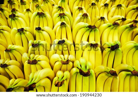 bananas in the store - stock photo