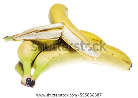 Bananas on a light background.