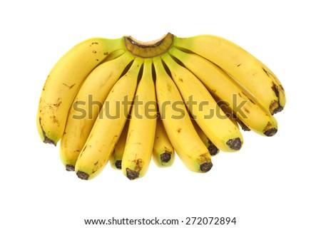 Bananas on a white background - stock photo