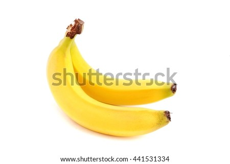 Bananas. Ripe fruits isolated on white background. Healthy food.