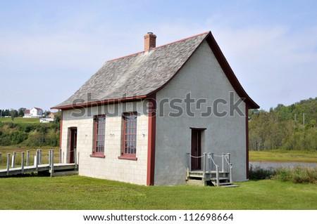 Banc de Paspebiac Historical site, Paspebiac, Quebec, Canada - stock photo