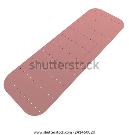 Band aid isolated over white, 3d render - stock photo