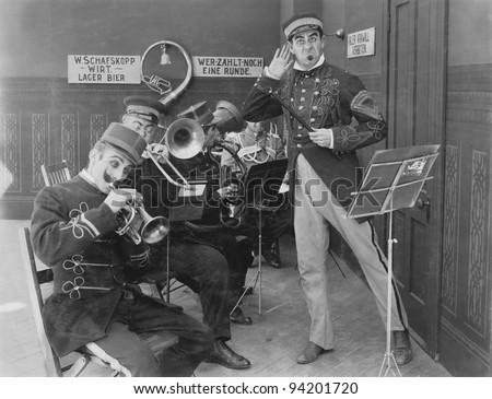 BAND ASSEMBLY - stock photo