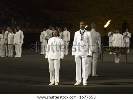 Band of the South African Navy Edinburgh Military Tattoo - stock photo