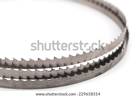 band saw on a white - stock photo
