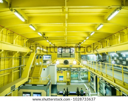 Banda Aceh, Indonesia - January 13 2018: Second floor of PLTD Apung Banda Aceh, Indonesia. In remembering history of tsunami struck the city of Banda Aceh on Dec. 26, 2004