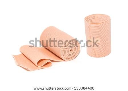 Bandage on white background - stock photo