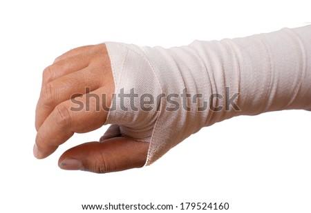 Bandage.Pain concept. Isolated on white background - stock photo
