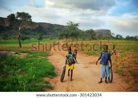 BANDIAGARA, MALI, AFRICA - AUGUST, 27, 2011  - stock photo